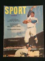 SPORT Magazine (Vintage) Oct.1952 Jackie Robinson, Pee Wee Reese  M1051