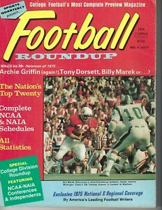 1975 Football Roundup magazine Michigan State Spartans v Wisconsin Badgers GOOD