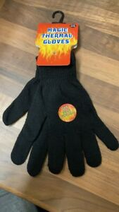 Brand New Magic Thermal Gloves Black Winter Soft Acrylic Adults Unisex ONE SIZE