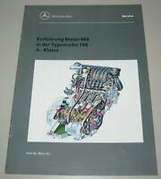 Werkstatthandbuch Mercedes A-Klasse W 168 Einführung Motor 668 Stand März 1998!