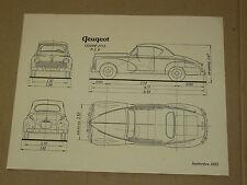 Prospectus PEUGEOT 203  Coupé  1952  Auto  brochure prospekt catalogue car