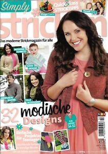 Zeitschrift Simply Stricken 2/2011*Strickmagazin*Stricken*Handarbeit