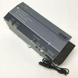 Sola SDU 500-5 Industrial UPS Power Supply 500VA, 300W, 230VAC 5A w/Relay Card