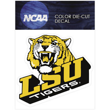 LSU Tigers Primary 1980-1989 Logo NCAA Die Cut Vinyl Car Sticker Bumper Window