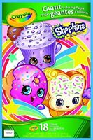 Crayola Shopkins Giant Coloring Pages =2 PACK=