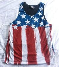 Ryde Out Tank Top Men's Reversible Mesh Shirt American Flag Size Large