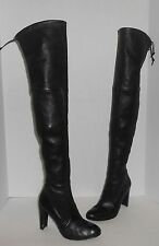 STUART WEITZMAN Highland leather over-the-knee boots Black Leather Sz 7 1/2