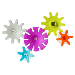 5pc Boon Cogs Building Gears Floating Suction Play Toys Bath Time for Baby Kids