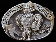 CONSTRUCTION WORKER A BREED APART BELT BUCKLE NICE!