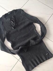 Leif Nelson Feinstrickpullover Gr L-XL Modisch NEU Black Edition