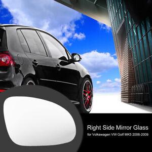Door Mirror Right Side Glass Heated W/Holder For VW Golf GTI Jetta MK5 Passat B6