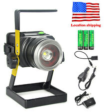 Outdoor Portable 2500lm Zoomable Rechargeable Flood lamp Work light W/Battery US