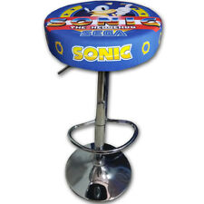 TABURETE ARCADE SONIC ACERO CROMADO REGULABLE ACOLCHADO RECREATIVA BARTOP