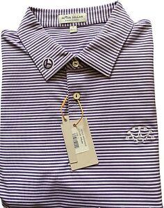 NWT SCOTTY CAMERON GALLERY Summer Comfort White Purple Stripe Crown Polo L Golf