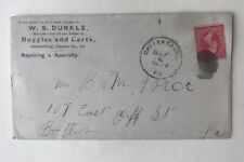 1900 Cover W. S. Dunkle Buggies And Carts Callensburg Pennsylvania