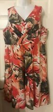 Lane Bryant Women's Size 20 Sleeveless Floral Fit & Flare Dress 48 Inch Chest