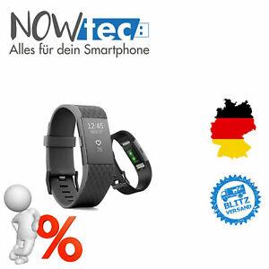 Fitbit Charge 2 Aktivitätstracker - Schwarz-Unbenutzt-WIE NEU