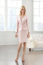 NWT Size 6 Mother of the bride short dress/beaded jacket, lt. peach mikado suit