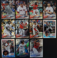 2018 Topps Chrome Boston Red Sox Master Team Set of 11 Baseball Cards