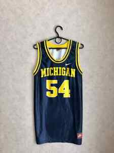 Vintage Nike Team Sports Michigan Wolverines Robert Traylor #54 Jersey Mens XL