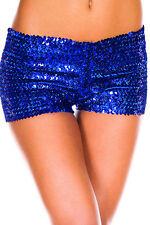 Sexy Metallic Sequins Clubwear Party Stretch Bottom Shorts Hot Pants Size 8-14