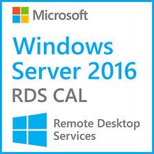 Remote Desktop Services License Windows Server 2016 RDS CAL 50 USER