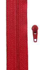 Gp 1,40 €/ m,  5 Meter Reißverschluss rot Spirale 3 mm + 10 Schieber YKK