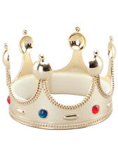 Gold Crown King Queen Princess Fancy Dress Accessory Adjustable Kids Nativity