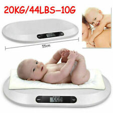 20KG Electronic Infant Baby Scale Pet Vet Scales Pediatric Weight Tracker White