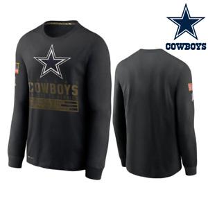 Dallas Cowboys 2020 Salute to Service Sideline Performance Black T-Shirt Men