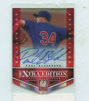 PAUL BLACKBURN 2012 PANINI ELITE EXTRA EDITION Auto Autograph #D /100