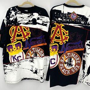 Vintage Negro League Baseball Museum NLBM Baseball Hip Hop T-Shirt All Over