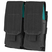 Condor Black MOLLE PALS MA4 Double 4x 5.56 .223 Rifle Magazine Closed Flap Pouch