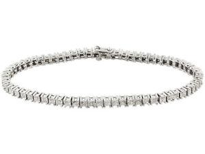 Diamond 1.00ctw Round, Rhodium over Sterling Silver Bracelet Size 6.5 DOC822 Jtv