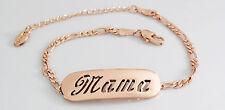 Mama-Pulsera Con Nombre-de 18 quilates chapado Oro Rosa Plateado-Regalos Para Ella