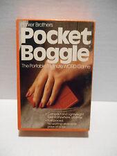 Parker Brothers POCKET BOGGLE Hidden Word Game Complete Vintage 1983