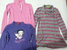 Lotto 623 stock 3 magliette vestito manica lunga bimba bambina 5/6 anni