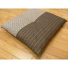 Nouveau-Coussin-Japonais-Zabuton-55-59cm-Polyester-Coton-Marron-de-Japon