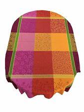 Provence Jacquard 100% Cotton Teflon Coated Tablecloth Vibrant Spring 63 3/4X79