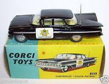 OLD ORIGINAL CORGI TOYS CHEVROLET IMPALA STATE PATROL POLICE 1959 REF 223 IN BOX