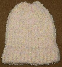 Boys Or Girls Toddlers Children's HandMade WINTER HAT Pink Yellow Light Blue
