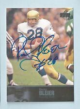 ROCKY BLEIER 2011 UD COLLEGE FOOTBALL LEGENDS AUTOGRAPH AUTO
