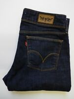 LEVI'S 570 JEANS WOMEN'S STRETCH STRAIGHT FIT W32 L32 DARK BLUE STRAUSS LEVP122