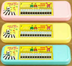3x Mini Piano Pen Pencil Cases Made in Taiwan Vintage New Old Stock
