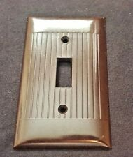 Vintage Black Wall Switch Cover Plate Ribbed Bakelite Sierra Electric Corp D-1
