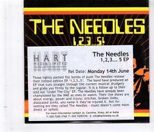 (HL179) The Needles, 1,2,3... 5 EP - 2004 DJ CD