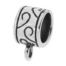1x Sterling Silver Pendant Charm Connector Slide For European Charm Bracelet