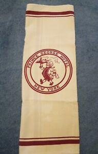 "Vintage New York City Prince George Hotel  20""×20"" Dinner Napkin Burgundy&White"