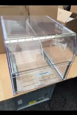 NEW Commercial Plexiglas Countertop Bread & Pastry Display Storage Bin, Ex.Large
