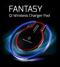 NEW Clear Qi Wireless Fast Charger Charging Pad Samsung Galaxy Note 8 S8 iPhoneX